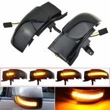 Dynamic Blinker For VW Touran 1T1 1T2 2003 2009 LED Turn Signal Light Side Lamp Pair arrow mirror indicator 2004 2005 2006 2007