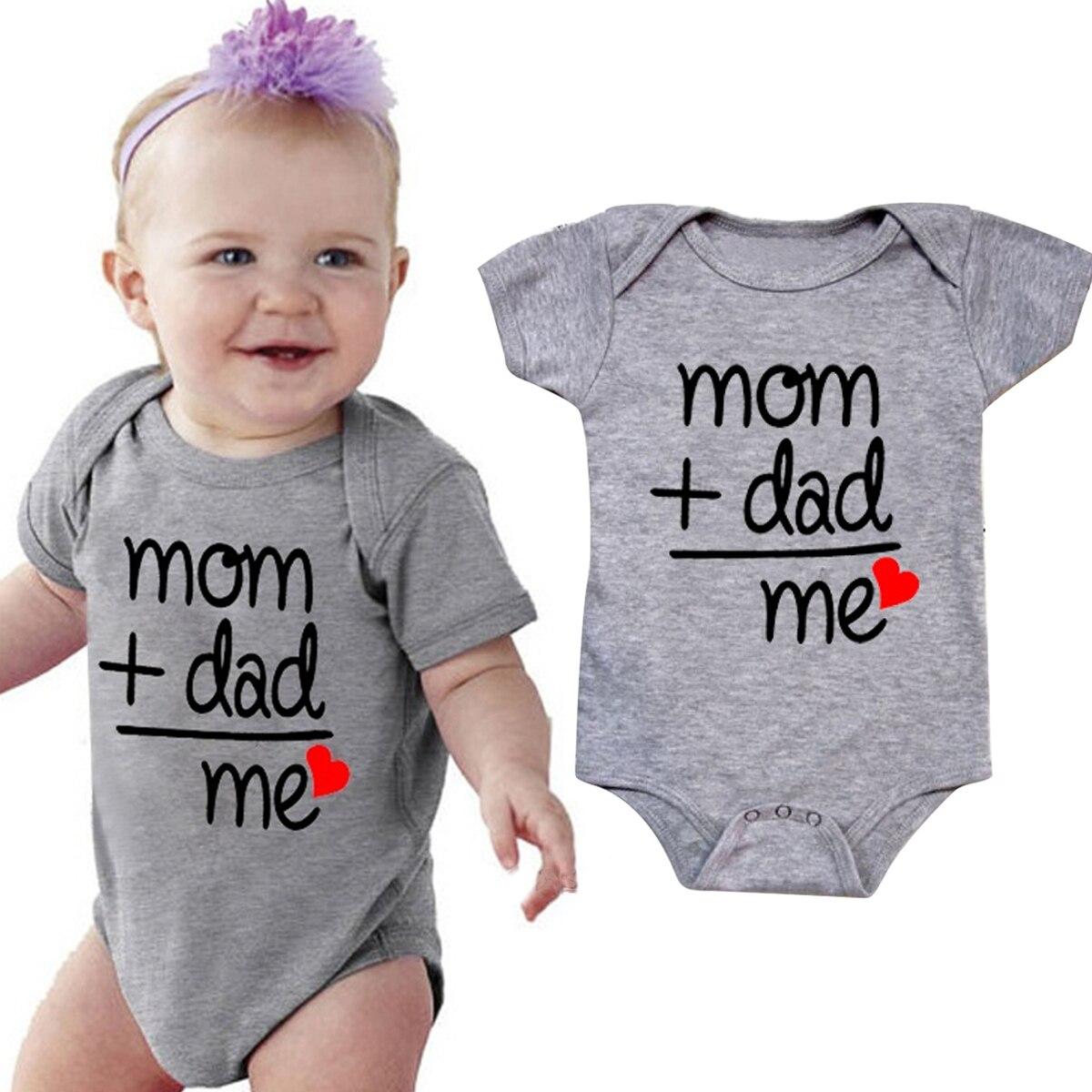 Newborn Infant Short Sleeve Baby Kids Girl Boy Letter Print Romper Jumpsuit Cotton Cute Sunsuit Clothes 0-24 Months
