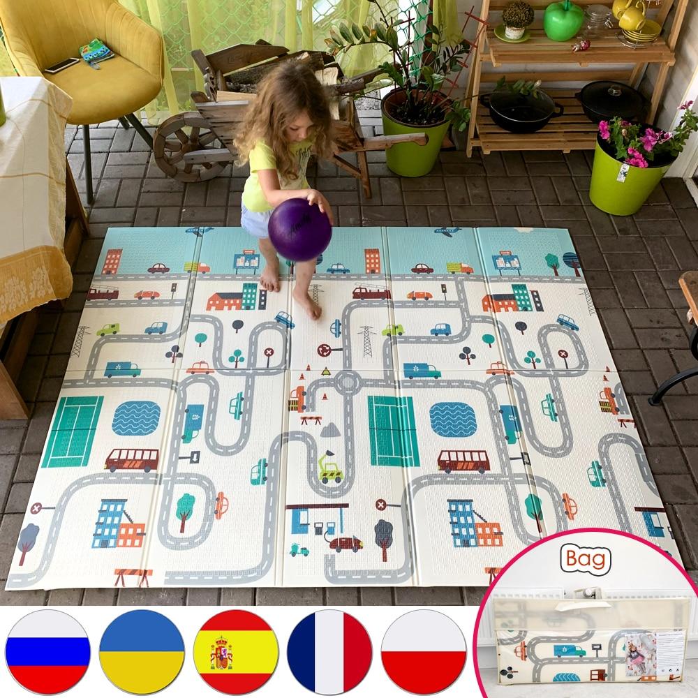 Складной напольный детский игровой коврик Miamumi, детский игровой коврик для ползания, детский термоковрик для малышей, игровой коврик из пен...