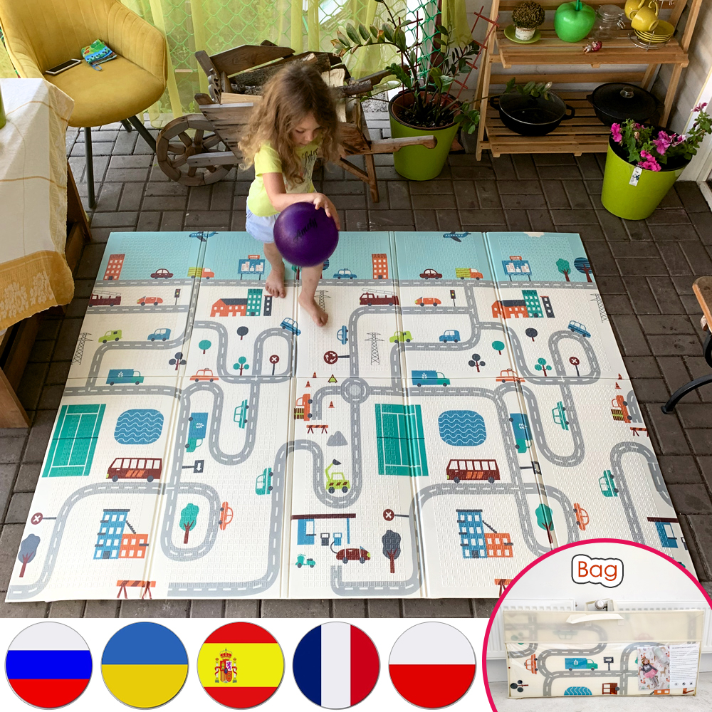 Miamumi Foldable 층 아기 놀이 매트 아이 Playmat 크롤링 카펫 어린이 유아 열 깔개 게임 패드 거품 교육 장난감 선물