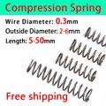 Customization Returnning Spring Wire Diameter 0.3mm Outside Diameter 2-6mm Compression Spring Pressure Spring Compressed Spring