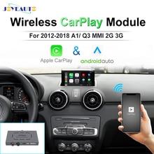 Joyeauto Hậu Mãi Không Dây Apple CarPlay Cho Xe Audi A1 Q3 MMI RMC OEM Wifi Giao Diện Android Tự Động Retrofit Với Màn Hình Cảm Ứng