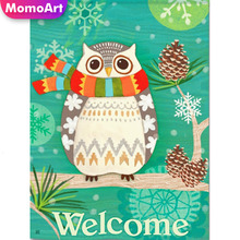 MomoArt DIY Diamond Painting Cartoon Owl Full Square Rhinestones 5D Mosaic Cross Stitch Wall Decoration