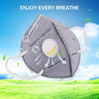 PM 2.5 Dust 2M Face Masks Anti-virus Breathable Cycling Mask Respirator Mask Activated Carbon Air Fliter Mask