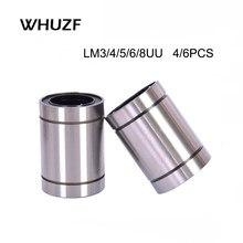 LM3UU LM4UU LM5UU LM6UU LM8UU, roulement à billes linéaire, pièces CNC, roulements linéaires 3-8mm, 2020 pièces, nouveau