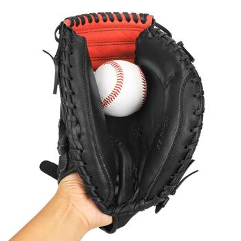 Gonex Baseball Catcher Gloves Leather Softball Teen Baseball Catcher Gloves Right Hand Throw 32 Inch With Tote Bag