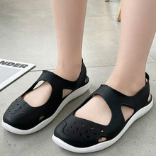 Mesh Sandals Footwear Jelly-Shoes Slip-On Flat Hollow-Out Summer Female Casual Soft