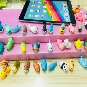 Image 4 - 만화 팬더 고양이 상어 케이블 수호자 데이터 라인 코드 보호기 아이폰에 대 한 보호 케이블 와인 더 커버 usb 충전 케이블