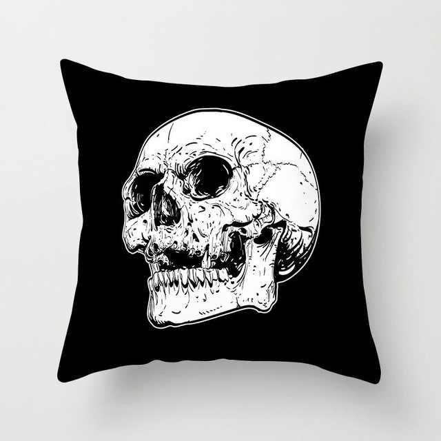 Sucre crâne impression taie d'oreiller veille De noël nuit De rêve effrayant crâne taie d'oreiller, décoration De voiture taie d'oreiller 45x45cm Fundas De Cojin