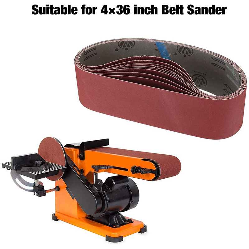 10 Pcs 4 X 36 Inch Aluminum Oxide Sanding Belts Heavy Duty Sanding Belts Multipurpose Abrasive Belts For Belt Sander
