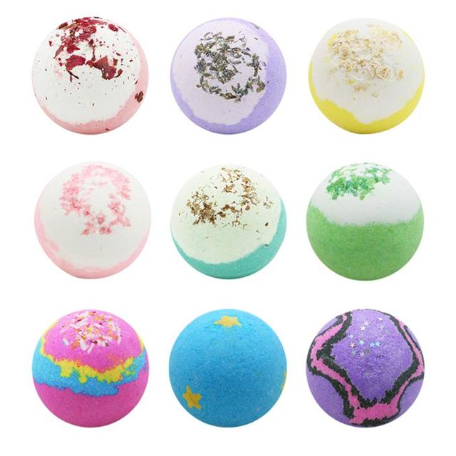 Soap Handmade Essential Oil Soap Moisturizing Bath Salt Ball Soap Bubble Shower Bombs Ball Body Cleaner SPA Skin Care for Gifts 2