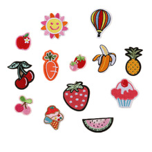 13PCS/Banana Lemon Cherry Peach Watermelon Fruit Embroidery Patches for Clothing Iron on Clothes Lovely Appliques DIY patches