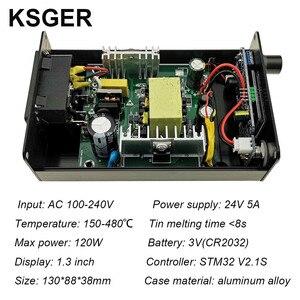 Image 4 - KSGER T12 OLED Soldering Station Iron Tips STM32 V2.1S ControllerDIY Kits 907 Handle Electric Tools Auto sleep 8s Tins EU plug