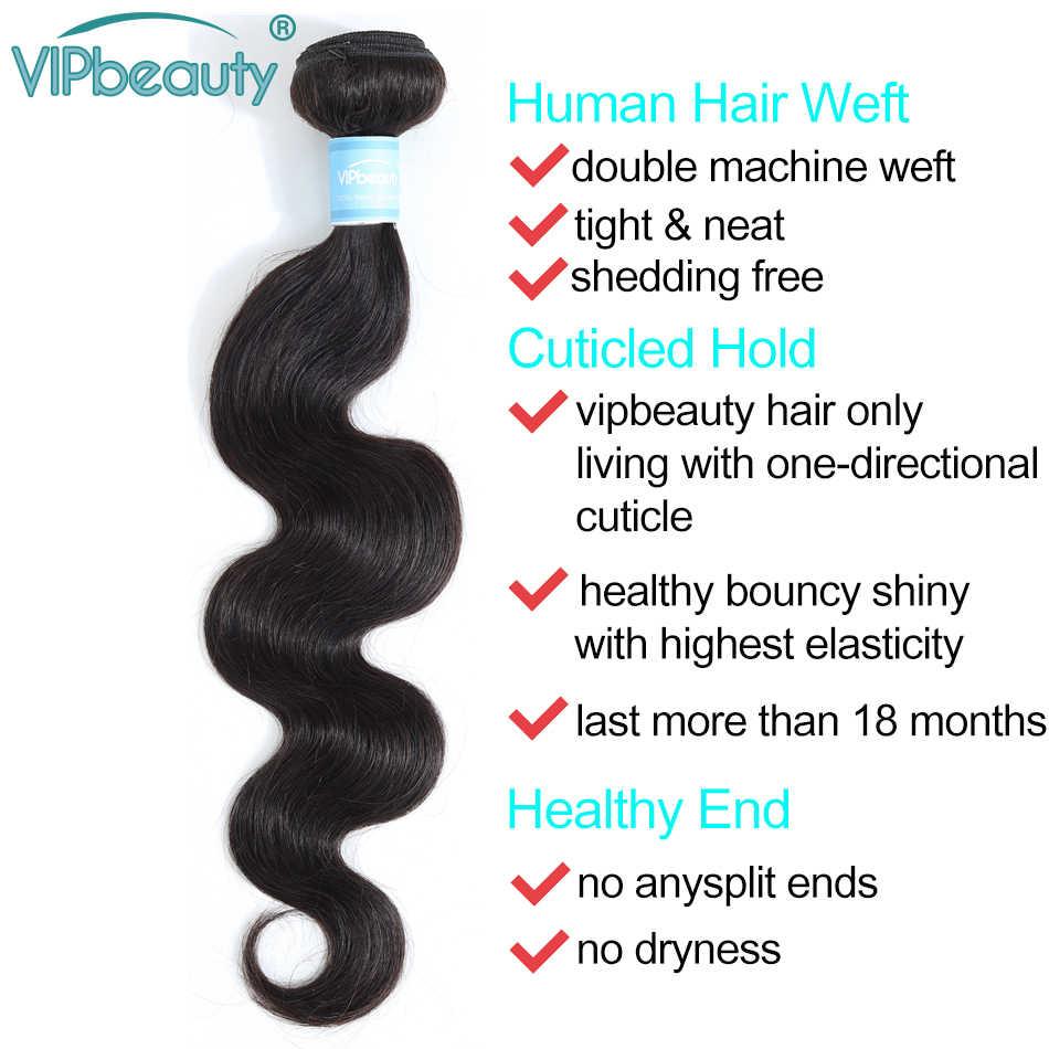 Vip schönheit Brasilianische Haarwebart Bundles Körper Welle 100% Menschliches haar Bundles Remy Haar Extensions 3 teile/los 1b