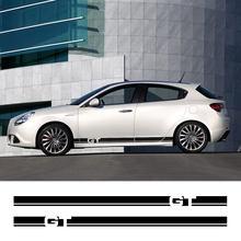 Per Alfa Romeo GT Sport 937 1.8 TS 2.0 JTS V6 JTDm anticario accessori Auto 2 pezzi adesivi per strisce gonna laterale portiera Auto