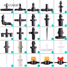MUCIAKIE Sprinkler Irrigation 1 4 Inch Barb Tee Single Double Barb Barbed Water Pipe Connectors For 4 7mm Hose Garden Fitting cheap Plastic Watering Kits