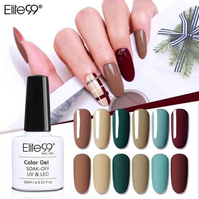 Elite99 10ml Kamel Farbe UV Gel Polnischen Semi Permanent Primer Nägel Gel Lack Soak Off Gel Für Nail art maniküre Gel Lack
