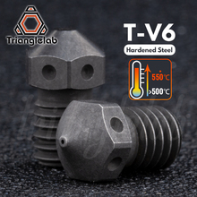 Trianglelab 경화 강철 T V6 노즐 고온 3D 프린터 PEI PEEK 탄소 섬유 필라멘트 E3D V6 hotend prusa MK3S 용