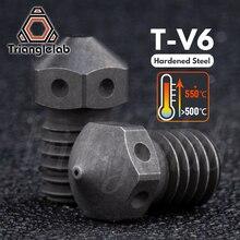 Trianglelab stal hartowana T V6 dysze wysokiej temperatury drukarki 3D PEI PEEK włókno węglowe dla E3D V6 hotend prusa MK3S