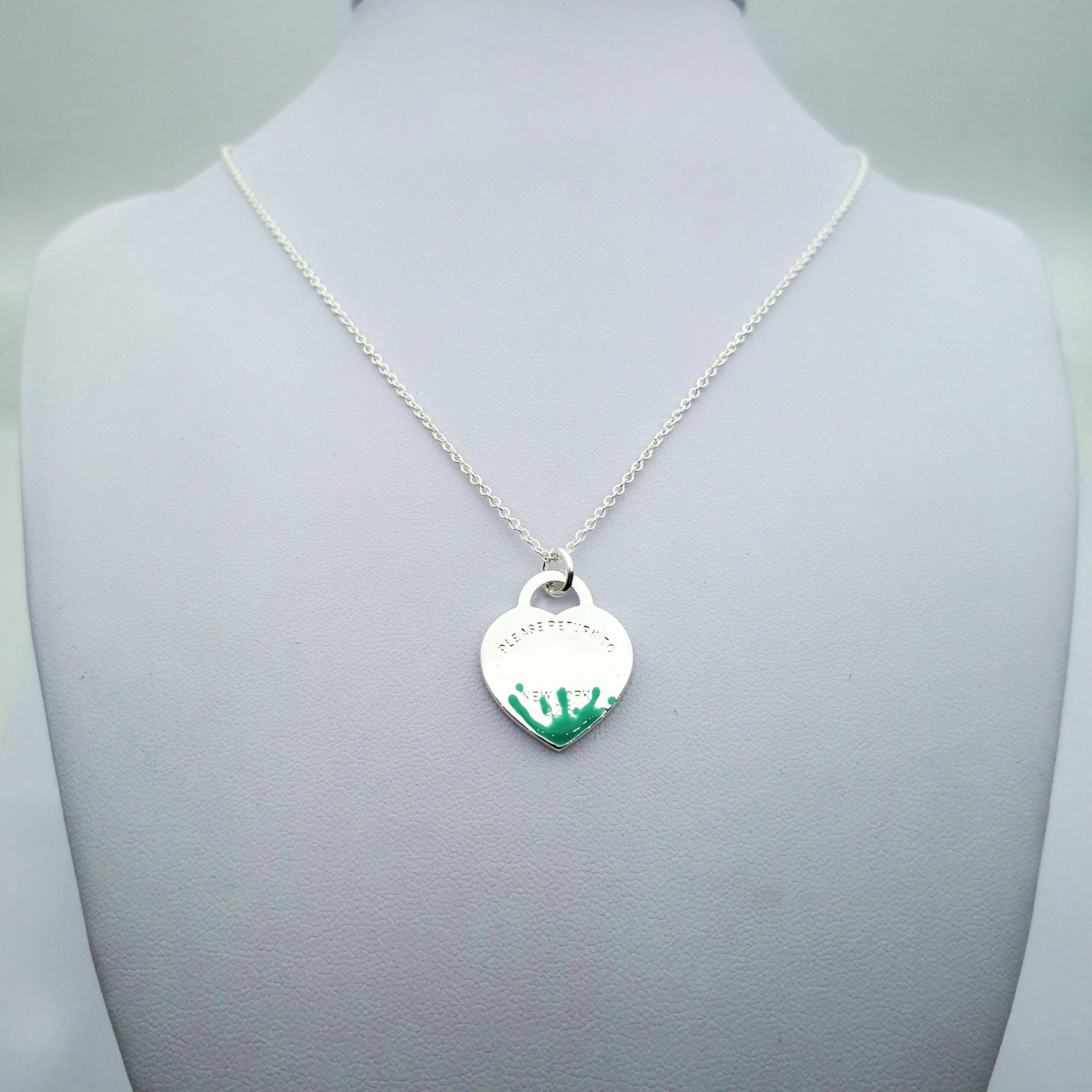 Plata de Ley 925 clásico popular original de moda en forma de corazón de tres piezas collar de mujer joyería - 4