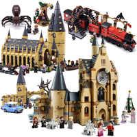 Novo harri mini castelo trem figuras blocos de construção tijolo natal legoinglys brinquedos para crianças 75948 75953 75954 75955 75950
