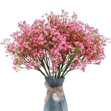 Venda quente 1 pc/bag simulação do plutônio gypsophila bouquet de flores artificiais casamento decoração de casa casamento falso flor par