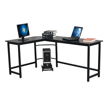 L-Shaped Desktop Computer Desk Study Table Office Table Easy to Assemble Can Be Used in home and office Black 1