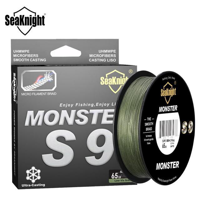 SeaKnight Brand S9 Series 300M 500M PE Fishing Line 9 Strand Reverse Spiral Tech Multifilament Strong Carp Fishing Line 20 100LB