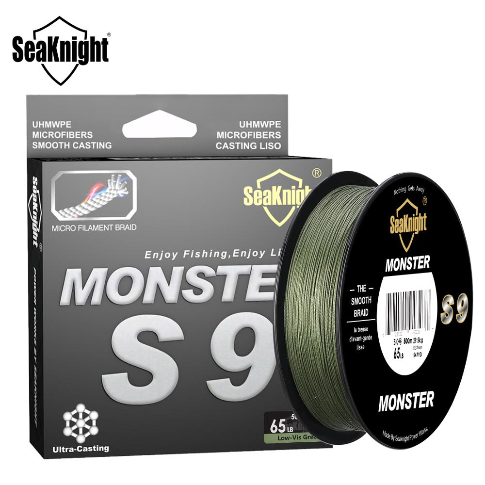 SeaKnight Monster S9 300M 500M PE Fishing Line 9 Strand Reverse Spiral Tech Multifilament Strong Carp Fishing Line 20 100LB|carp fishing line|fishing linesuper strong - AliExpress