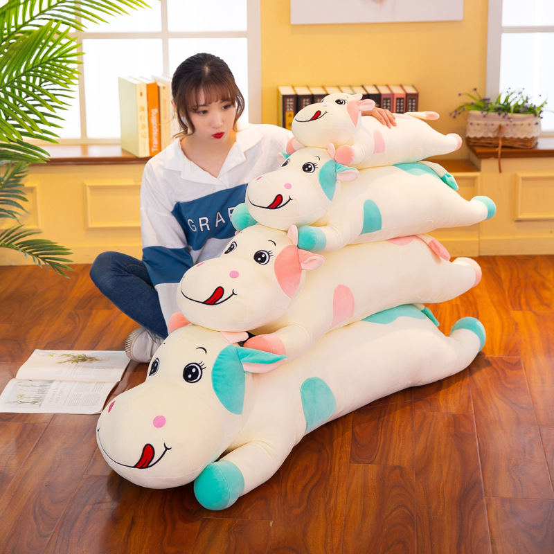 Cute Cartoon Cow Doll Plush Toy Stuffed Animal Cattle Doll Toys Long Style Plush Pillow Children Toy Girls Gift in Stuffed Plush Animals from Toys Hobbies
