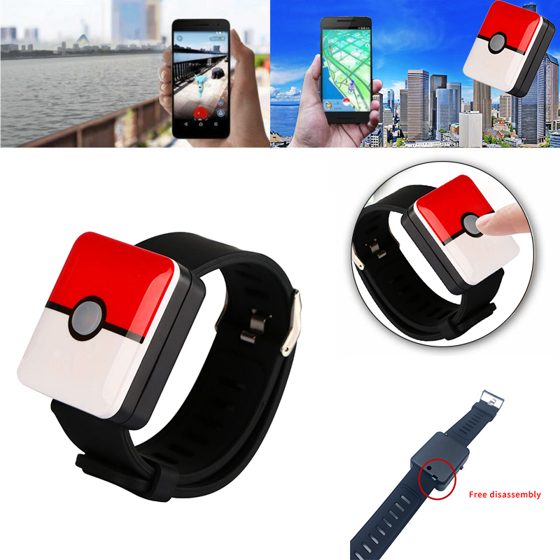 Auto Catch Pokemon Bracelet For Pokemon Go Plus Bluetooth Rechargeable Square Bracelet Wristband Bracelet Device for Android IOS