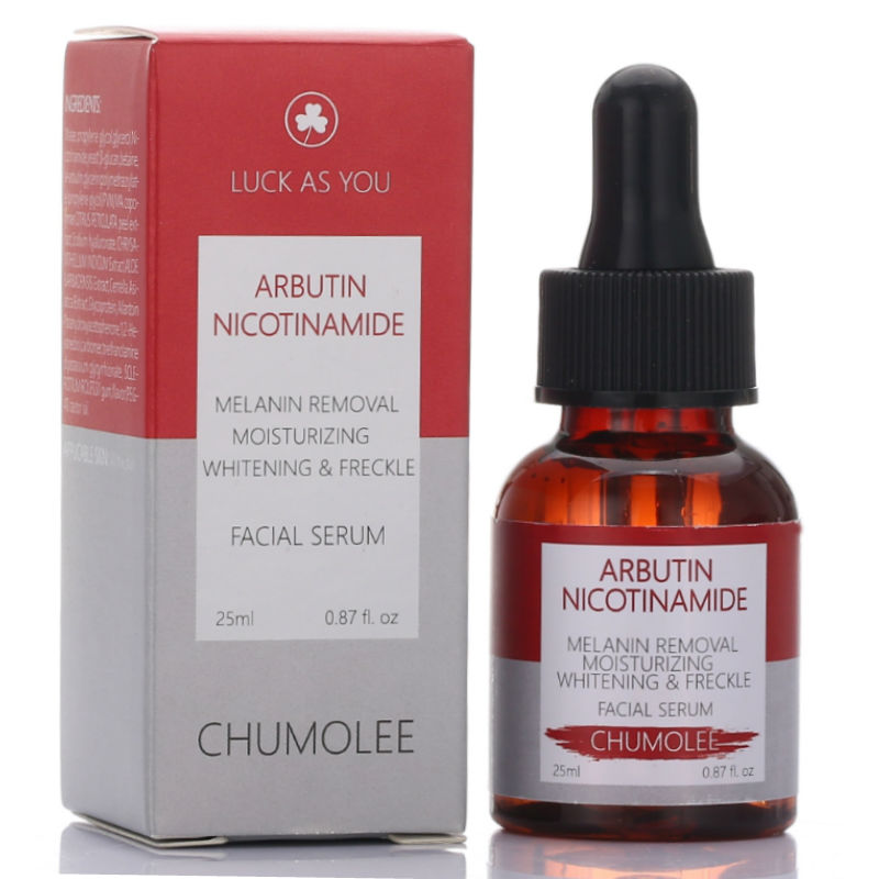 CHUMOLEE Alpha Arbutin Whitening Serum Liquid 25ml Freckle Removal Dark Spot Acne Scars Nicotinamide Anti-wrinkle Face Serum