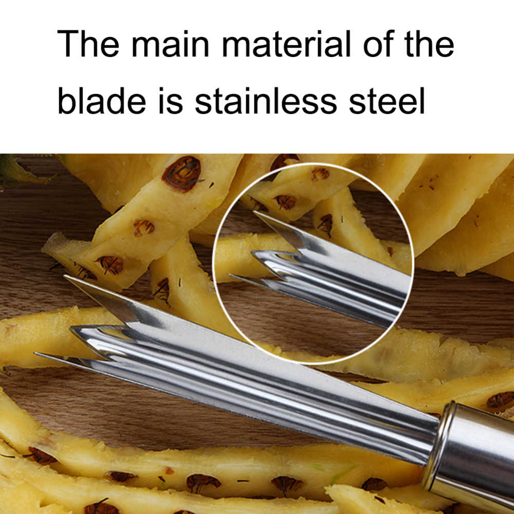 Roestvrij Staal Ananas Dunschiller Mes Cutter Ananas Slicer Lente Coil Garde Handmixer Keuken Gereedschap