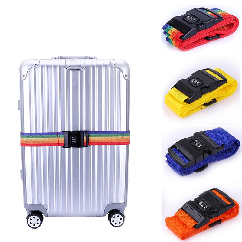 11color Adjustable 200CM PP Travel Lock Luggage Belt Travel Protection Belt Accessories Suitcase Travel Bag Belt Luggage Strap