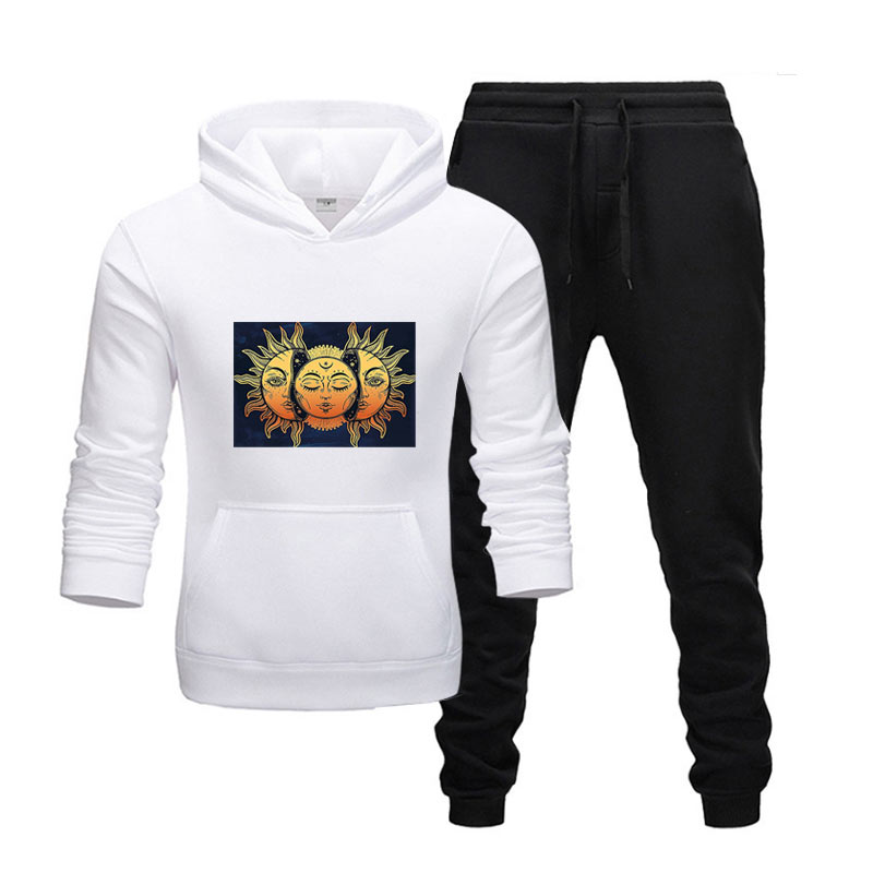 New Hot Two Pieces Set Fashion Hoodies Sportswear Men Tracksuit Hoodie Autumn Men Brand Clothes Hoodies+Pants Sets