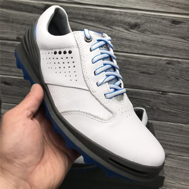 Sapatos de Golfe de Couro Esportivos de Treinamento de Golfe Formadores para os Homens Marca Homens Genuíno Profissional Calçados Spikeless Golfe