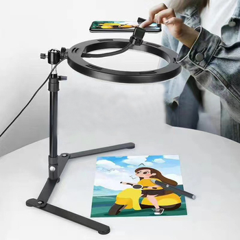 Video Youtube Fill Ring Light Lamp Live COOK 26CM Photography Lighting Phone Ringlight Tripod Stand Photo Led Selfie Bluetooth led selfie ring light tripod 26cm photo studio photography photo fill ring lamp with tripod stand for youtube live video makeup