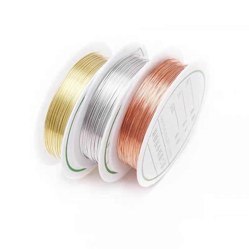 Wholesale 0.3/0.4/0.5/0.6/0.7/0.8/1.0 Mm Brass Gold Silver Copper Wires Beading Wire For Jewelry Making Copper Colors