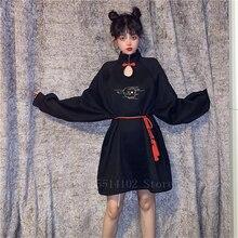 Moda Harajuku ropa estilo japonés mujeres Kimono vestido Vintage cuello gota Yukata Haori Japón coreano blusa de Bata asiática