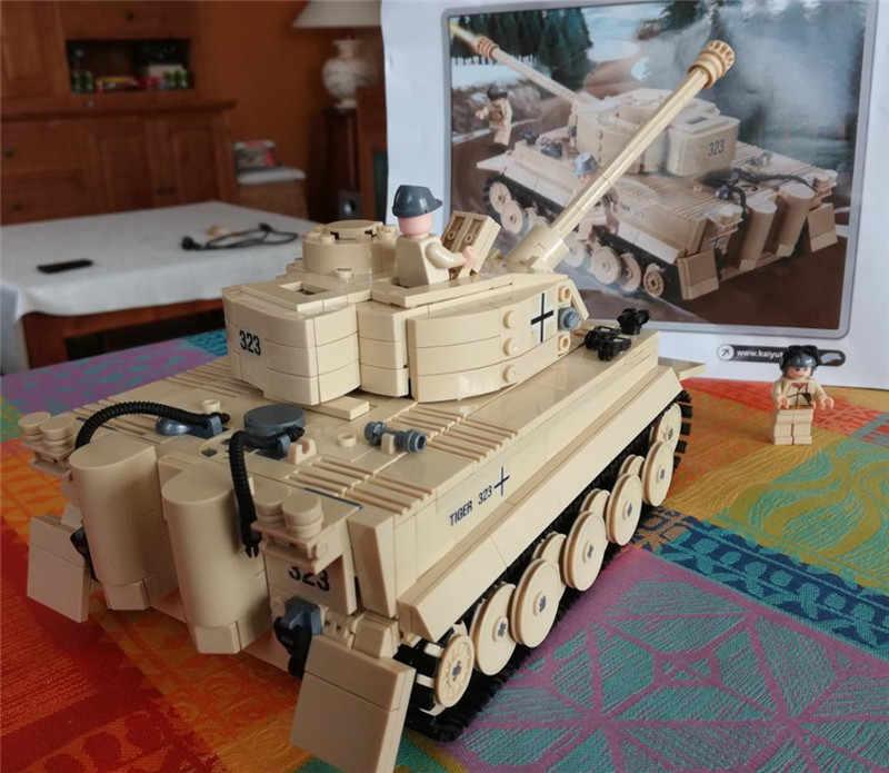 995 pièces militaire allemand roi tigre réservoir canon jouet LegoINGLs blocs de construction ensembles armée soldats enfants briques à monter soi-même jouets pour les enfants