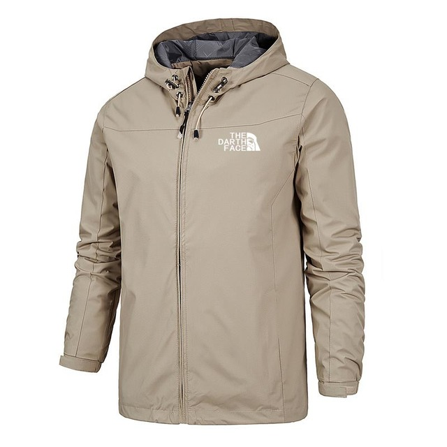 2020 Solid Color Fashion Male Coat Outdoor Sportswear Winter Jacket Men Lightweight Hooded Zipper Waterproof Coat Windproof Warm 3
