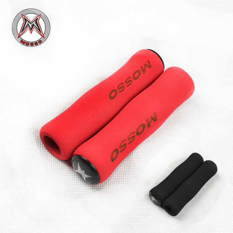 1 Pairs MTB Grips Bicycle Handlebar Grips Cover End Plugs Mountain Road Grip Ultralight Soft Shockproof Sponge Bike Accessories