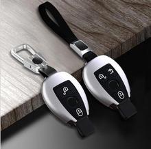 Чехол для брелка из алюминиевого сплава для Mercedes Benz C200L glc260 e300l c260l GLA200 CLA A Class, Стайлинг автомобиля