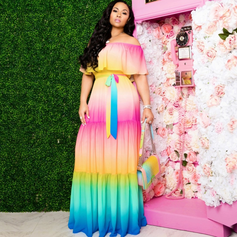 African Long Maxi Dresses For Women Off The Shoulder Pleated Dress New Fashion Bazin Sexy African Dashiki Dress For Lady 2020