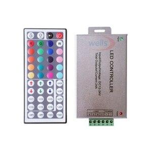 Image 3 - Free shipping DC12V 24V 12A 24A 44key IR wireles Remote Led RGB Controller 44key IR Dimmer for 3528 5050 RGB led strip lights