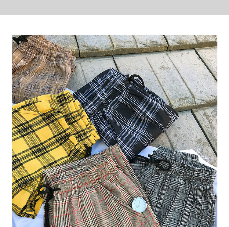 Privathinker Harajuku Plaid Pants For Women Trousers 2020 Streetwear Woman Harem Pants Autumn Ladies Causal Pants Plus Size 37
