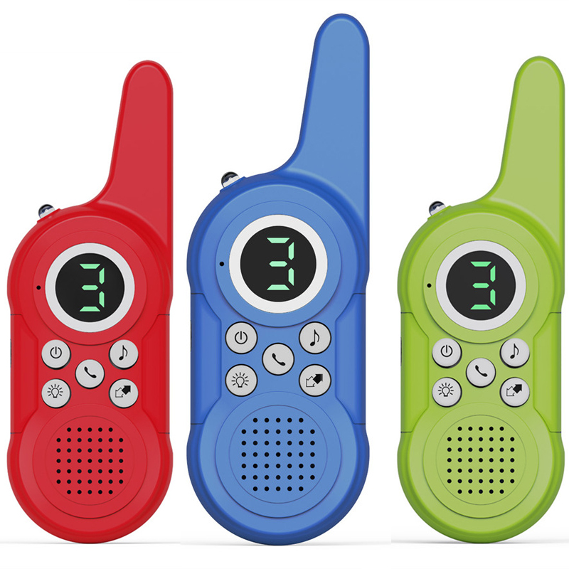 2Pcs/Set Children's Toys Walkie Talkie 3 channels Handheld Wireless Transceiver Machine Children's Gift USB charing Available