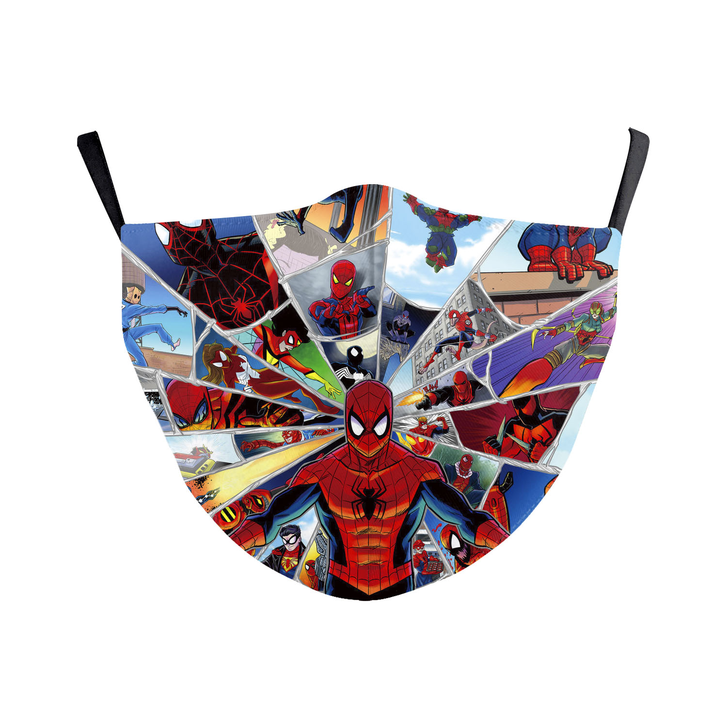 Face Masks Super Hero Washable Fabric Face Cover Masks Spiderman Printed 3D Protective Face Mask Cycling Reusage Careful Masks