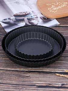 Tart-Pan Bakeware-Tools Baking-Quiche-Pan Non-Stick Round 8/9inch Removable Loose-Bottom