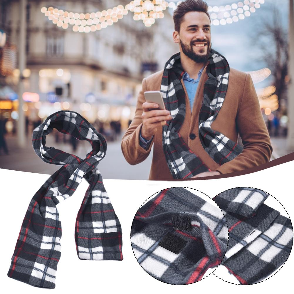Heated Winter Electric Scarf USB Rechargeable Rapid Heating Scarf Heating Warm Unisex Collar For Outdoor Activities Warm